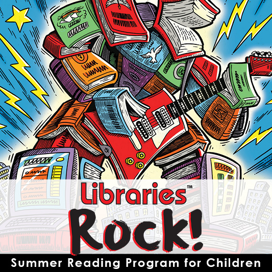 Libraries Rock! (kids SRP poster)