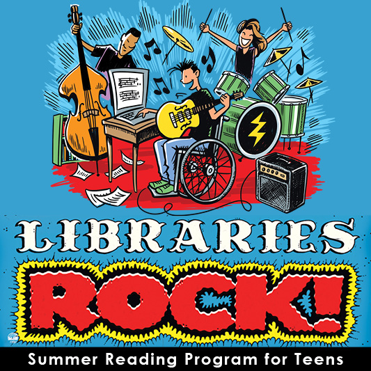 Libraries Rock! (teens SRP poster)